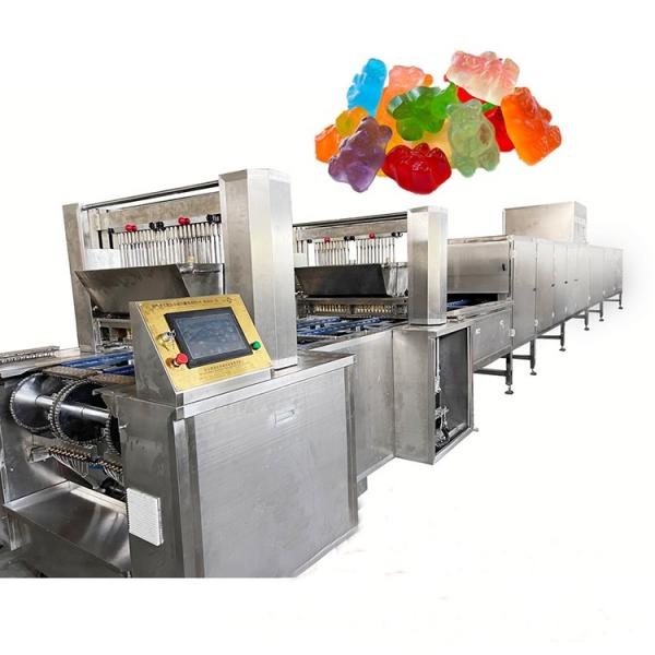 Small output candy gummy depositer soft candy bear making machine
